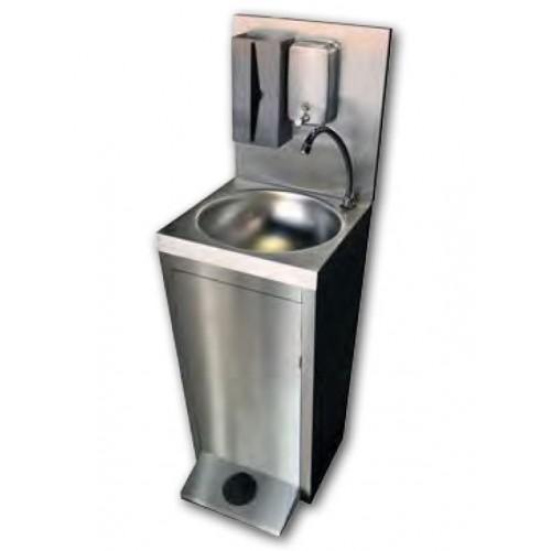 Lave main cuisine professionnelle, autonome,commande au pied,  L 400 x P 420 x H 850/1300 mm