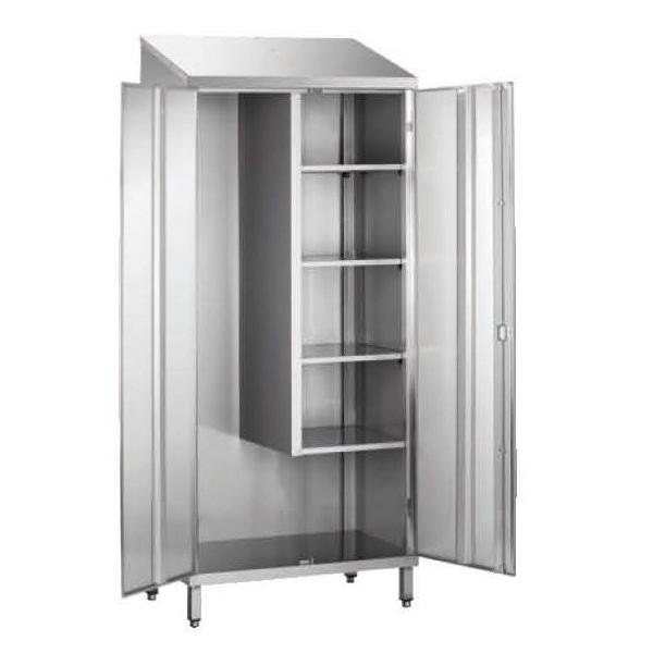 Armoire d 39 entretien toit pent 1 porte doubl e stl for Materiel armoire cuisine