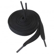 Lacets en polyester Slipbuster, couleur noir