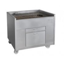 Churrasco professionnel, Grills à Charbon de Bois statiques, avec ventilation, Ligne 800, largeur 800 mm