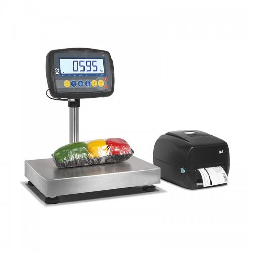 Balance commerciale Q6, étiqueteuse peseuse, capacité 30 Kg, plateforme: 300 x 240 x 102 mm