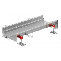 Caniveau Modul 125, éléments droits, avec pente, longueur 3000 mm, profondeur 80 à 95 mm