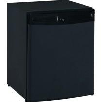 Minibar, porte pleine, noir, 1 clayette + 2 balcons