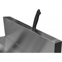 Fente à couteaux sur dosseret inox pour meuble arrière traditionnel neutre