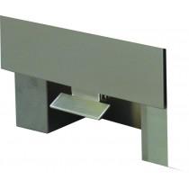 Pédale d'ouverure inox pour meuble poubelle sur tiroir coulissant
