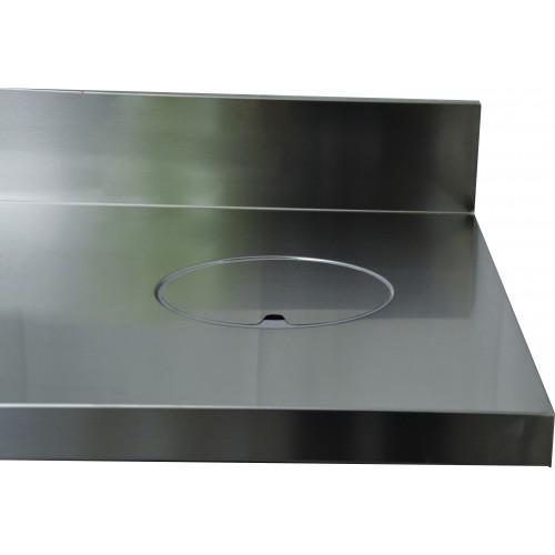 Trous vide ordure, Dessus inox : TVO avec collerette affleurante, Ø 160 mm