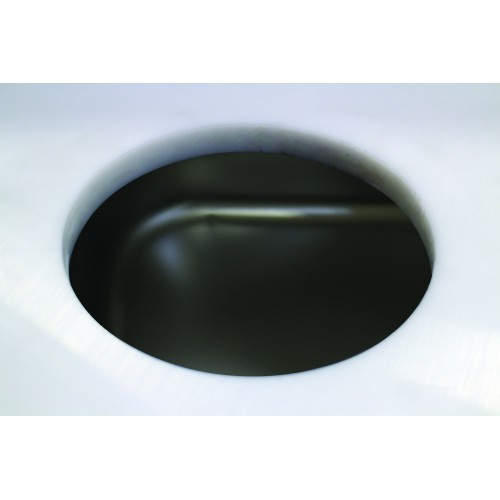 Plus-value trou vide déchets, dessus polyéthylène, sans collerette, pour table de préparation