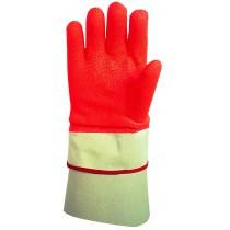 Gant de protection froid, caoutchouc PVC, orange/blanche