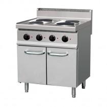 Fourneau électrique, plaque de cuisson en fonte, (2 + 2,6) x 2 bruleurs, 9,2 Kw