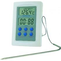 Thermometre professionnel, four alarme + timer + sonde , L de fil - 1 m