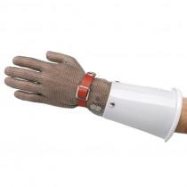 Gants cotte de maille, avec manchette poly, gant main droite