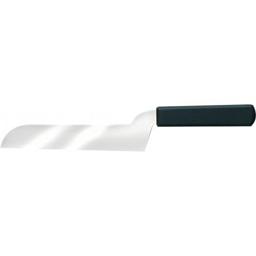 Couteau à fromage pâte mi-molle, manche plastique surmoulé noir, L lame 210 mm