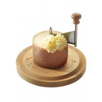Friseur en hêtre pour fromage tête de moine avec cloche