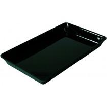 Plateau cuisine, plexi noir rectangulaire GN1/1 , P 325 mm