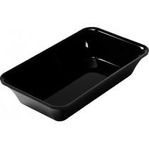 Plateau cuisine, plexi noir rectangulaire GN1/4 , P 162 mm