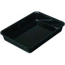 Plateau cuisine, plexi noir rectangulaire GN2/7, P 200 mm