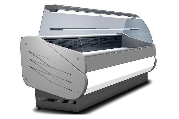 Vitrine Refrigeree Salina 80 Vc 200 Vitre Incurvee 1 1 M2 332 L Stl Sarl Materiels Cuisine Com