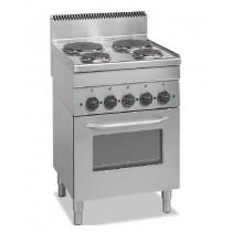 Cuisinière électrique, avec four électrique, gamme 600, ME100 + FOUR, 4 plaques, 12.5 kW
