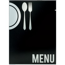 Protège menu moderne A4 4 vues, noir