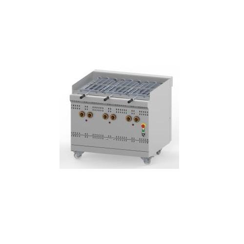 Grill à gaz rotatif haut rendement, ligne 900 simple, modèle GGSDR, L 1000 mm, 6 broches