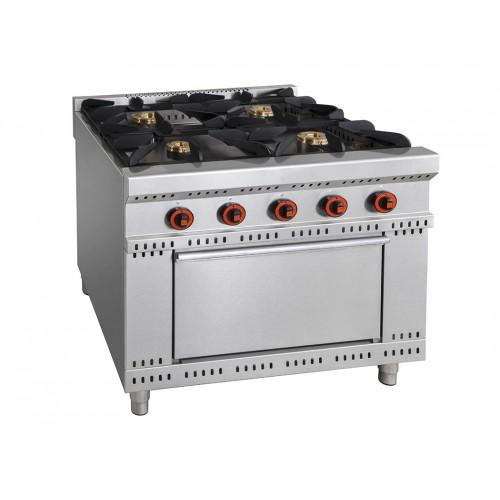 meilleure sélection a2f0e 5ac62 Cuisinière à gaz avec four, ligne 800, modèle Minho, 4 brûleurs