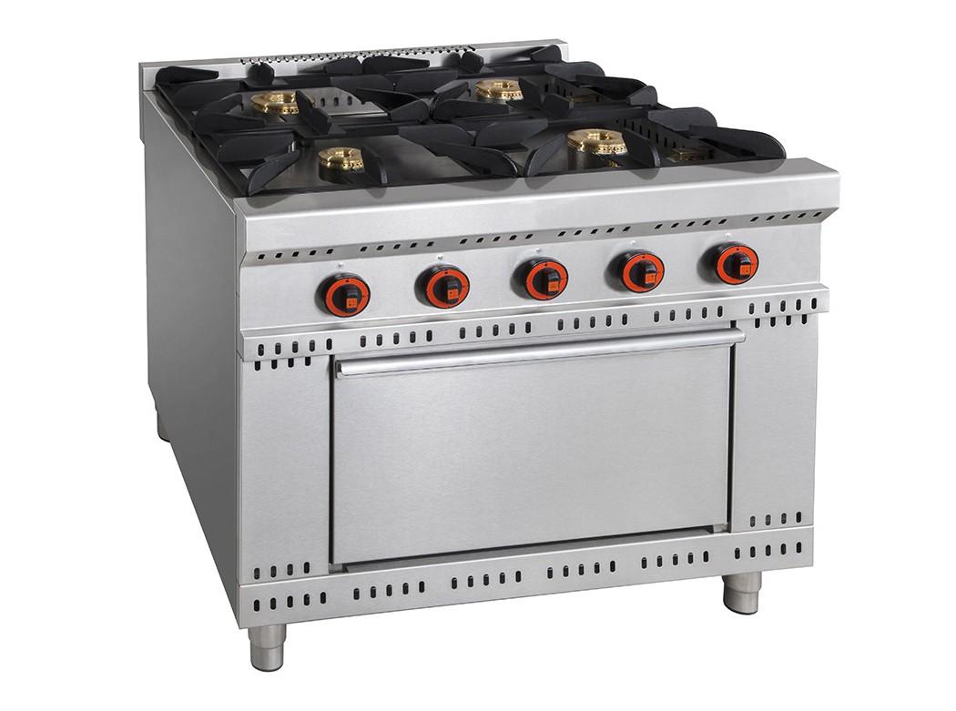 Piano De Cuisson Avec Four Gaz cuisinière à gaz avec four, ligne 900, modèle douro, 4 brûleurs