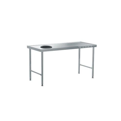 Table de tri avec départ en angle à droite, acier inoxydable, L 1600 mm