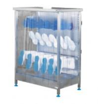 Armoire ventilée modulable, seche-botte électrique 12 paires, inox, L 1191 x l 622 x H 1437 mm