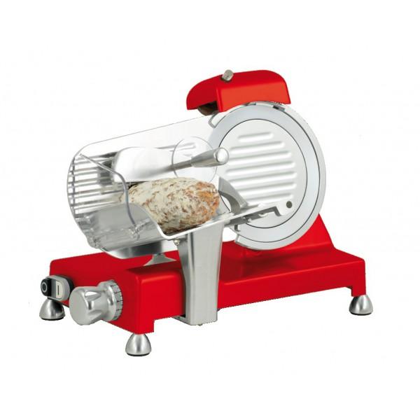 Trancheuse à jambon, en aluminium anodisé, rouge, Ø 195 mm, 150 W
