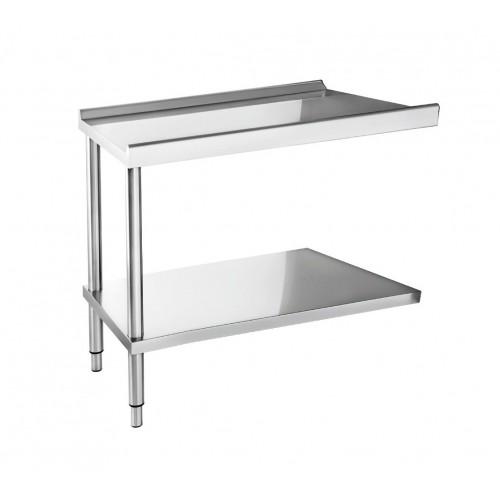 Table d'entrée ou de sortie pour lave-vaisselle, hauteur 824-884 mm
