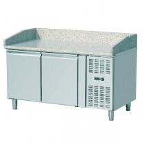 Saladette réfrigérée, 0 + 8 °C, 802 L, 300 W, surface en granit, 4 portes