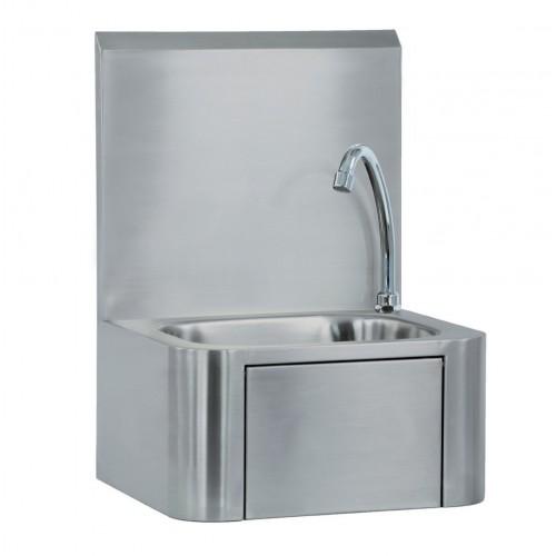 Lave-mains à commande fémorale Premium, en acier Inoxydable AISI 304