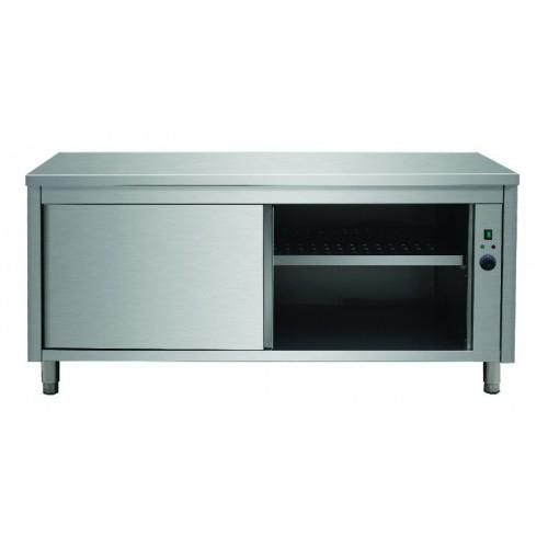 Placard chauffant, acier inoxydable, portes coulissantes, 30-90 °C, P 600 mm