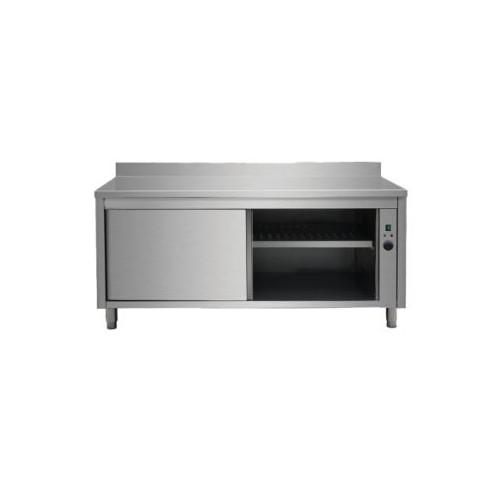 Placard chauffant, adossée, acier inoxydable, portes coulissantes, 30-90 °C, P 600 mm