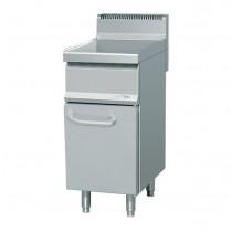 Elément neutre, acier inoxydable, L 400 x P 700 x H 900 (+140) mm