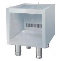Elément neutre, acier inoxydable, L 512 x P 400 x H 405 (+100) mm
