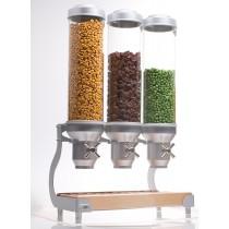 Distributeur d'aliments secs, gamme Deluxe Bols ajustables, 7 Kg, 3 bols x 5 L