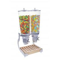 Distributeur d'aliments secs, gamme Exclusive, 5L manette en croix, 2 bols, 2 x 5 L