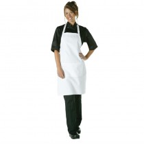 Tablier à bavette Chef Works blanc, polyester-coton