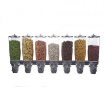 Distributeur d'aliments secs, gamme Exclusive, 5L manette en croix, 7 bols, 7 x 5 L