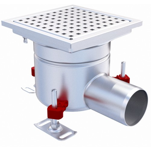 Siphon Monolithique Epur Hygienefirst Avec Grilles Inox Perforee