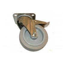 Roue freinée diamètre 125 mm, pièce détachée pour fours et étuves