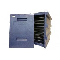 Coffre isotherme 10 niveaux 40 X 60, Bleu AVEC poignée inox, 128 L