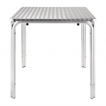 Table carrée empilable Bolero, en acier inoxydable, 700 mm
