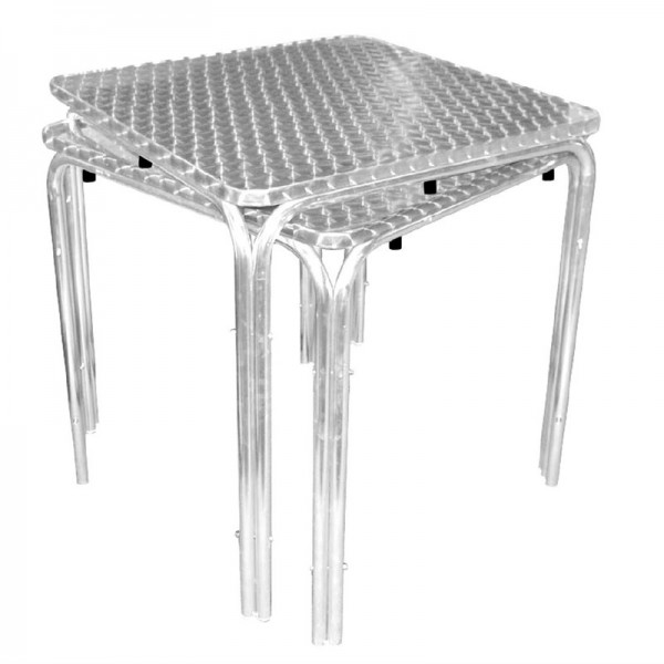 Table empilable carrée mm inoxydable700 Boleroen acier rdCoxeB