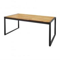 Table industrielle rectangulaire Bolero, en acier et acacia, L 1800 mm