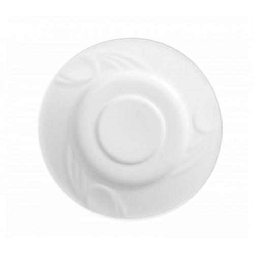Soucoupe pour tasse à café et tasse à cappuccino, porcelaine blanche, Ø 149 mm