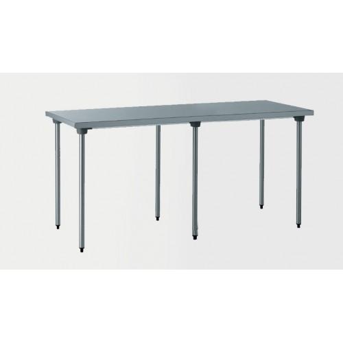 Pied De Table Inox.Table Inox Centrale Sur Mesure L 3000 X P 700 X H 750 Mm 6 Pieds