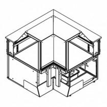 Angle réfrigéré intérieur 90°, gamme OPÉRA