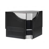 Meuble caisse d'angle, gamme SASHA, angle intérieur, L 1430 mm